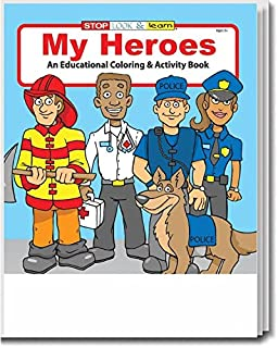 My Heroes Kid's Educational Coloring & Activity Books in Bulk (25-Pack)