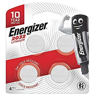 Energizer 2032 Coin Battery, Pack of 4 (B07LGGQ3T9)   Amazon price tracker / tracking, Amazon price history charts, Amazon price watches, Amazon price drop alerts