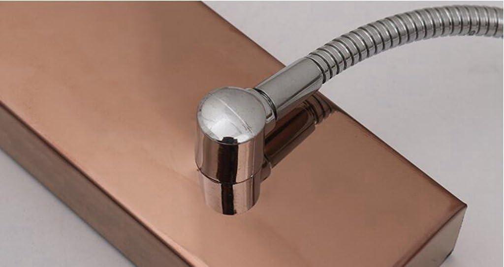 Miaoge Aluminium Acryl Farbe Roségold LED Spiegelleuchten modern minimalistisch drei Spiegelschrank Licht warmes Licht 300mm 12W 300mm 12W