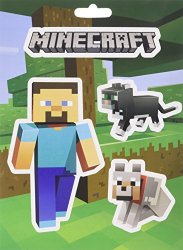 JINX Minecraft Steve Pets Aufkleber-Set