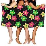 Dress Rei Jxrodekz Toalla de playa de 78,74 x 51', abstracta floral, toalla de baño sin costuras, 80130 cm, suave, ligera, absorbente, para baño, piscina, yoga, pilates, picnic, mantas
