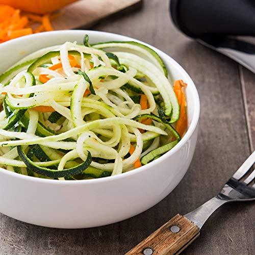 Cortador en Espiral para Cortar Verduras, Rallador de Verduras, Cortador en Spirelli Manual, Adecuado para Zanahorias, Pepinos y Calabacin Pasta (Blanco y Verde)