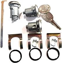 Chevrolet Gm OEM Chrome Doors/trunk Lock Key Cylinder Set with 2 Keys to Match