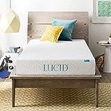 LUCID 8 Inch Gel Infused Memory Foam Mattress - Medium Firm Feel - CertiPUR-US Certified - 10-Year warranty - Twin XL