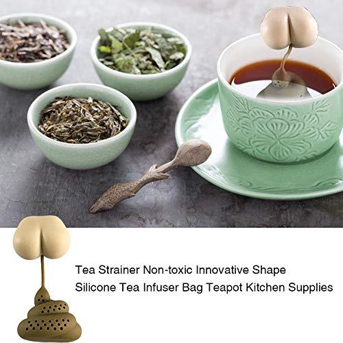 Dequate Teesieb Teefilter - Lustiges Design Teefilter Silikon - Kreative Kacke Teesieb Silikon In Lebensmittelqualität, Teesieb Teefilter Silikon Teesieb, Für Tee, Kaffee, Kochgewürzpackung