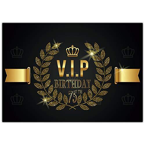 A4 XXL 75 Geburtstag Karte VIP 75th BIRTHDAY mit Umschlag - edle Geburtstagskarte Glückwunschkarte zum 75. Geburtstag für Frau Mann von BREITENWERK