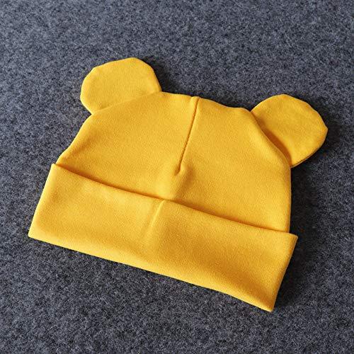 Gnrique Gorro De Punto,Vintage Beb Invierno Beret Lindo Oso Amarillo Beb Sombrero Amarillo De Tejidos del Odo, Nios Nias...