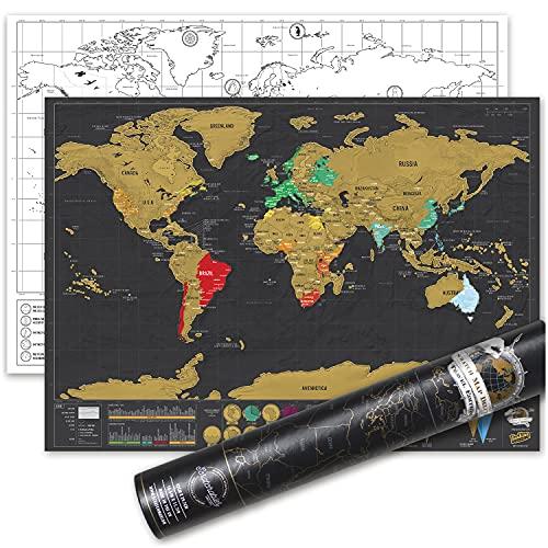 Luckies of London LUKSDT - Mapa Deluxe para rascar, 29.7 x 42 cm