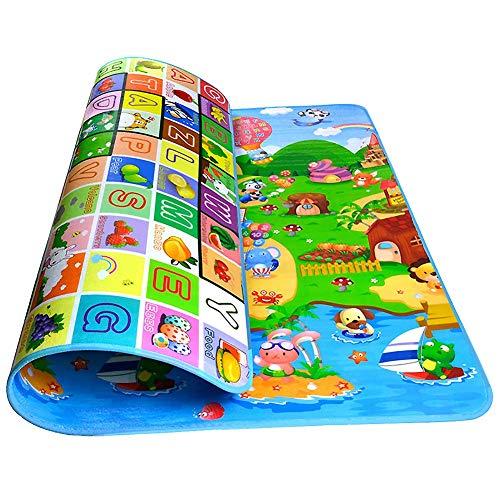 StillCool Ripiegabile Tappeto con Animali Tappeto Neonato Gattonamento Portable Antiscivolo Doppia Faccia Impermeabile 200x180x0.5cm