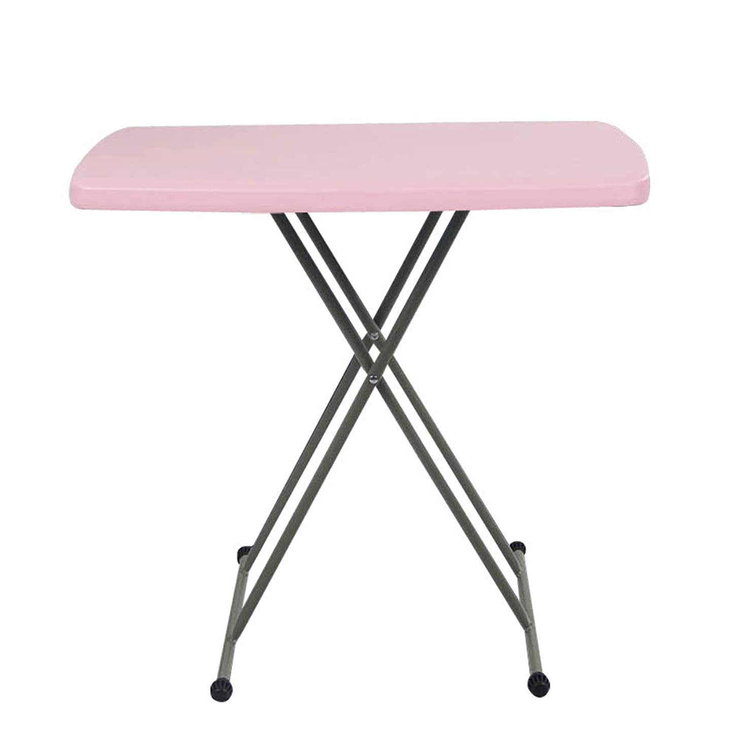 Clearance Folding Laptop Table | Inkach Adjustable Computer Desk Mouse Stand | Overbed Side Table Bed Tray Notebook Holder (Pink)