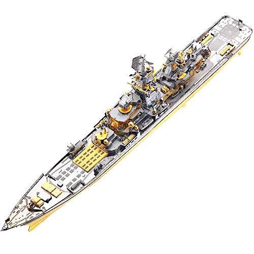 piececool Russian Battlecruiser Pyotr Velikiy Schlachtschiff 3D Metall Puzzle Modell Kits DIY 3D Laserschnitt Modell-Bausatz Spielzeug P110-GS