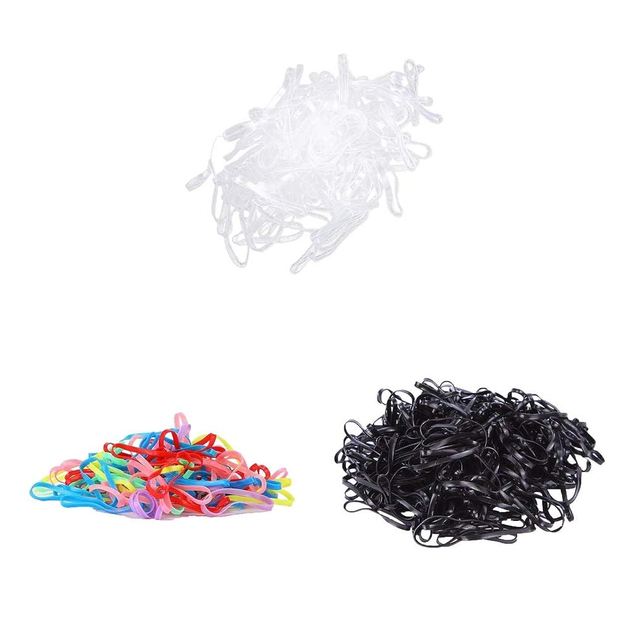 のぞき見原因明示的にB Blesiya ヘアゴム 約300本 弾性 ヘアスタイルツール お下げ 髪飾 髪留め ストロング 可愛い