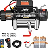 VEVOR Truck Winch 13000Ibs Electric Winch 26m/85ft Cable Steel 12V Power Winch Jeep Winch with...