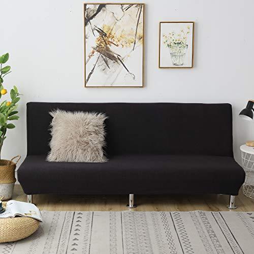 C/N Funda de sofá Cama Clic clac Plegable elástico Fundas de sofá sin Brazos Funda de sofá elástica sin Brazos Funda Clic clac 1 Plaza Negro