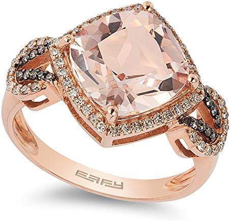 EFFY 14K ROSE GOLD DIAMOND BROWN DIAMOND MORGANITE RING product image