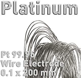 100mm Polymet Galvanotech Platinum Wire Dia 0.5mm x L Electrode for Electrolysis