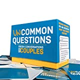 blue and orange box of uncommon questions for couples