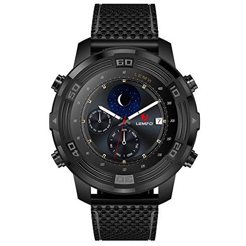 LEMFO LEM6 3G Smart Watch Android 5.1 ROM 16G + RAM 1G Nano SIM Wifi GPS Podómetro Pulsómetro Monitor Teléfono Celular Smartwatch para Android 5.1 con IP67 Grado Impermeable