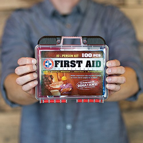 Total Resources Deluxe 100-piece First Aid Kit, Exceeds OSHA Ansi Standards