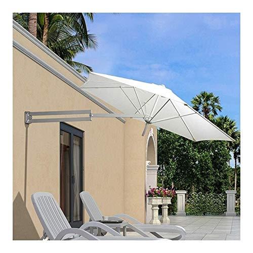 Sonnenschirme Terrasse Garten Sonnenschirm Markisen tragbar Wandmontage Aluminium Terrassenschirm - Outdoor Garten Balkon neigbar Sonnenschirm Regenschirm YSJ weiß
