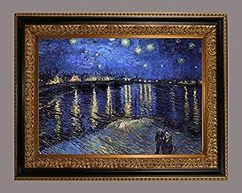 BiblioArt Series 【現品限り】V.V.ゴッホ 「ローヌ川の星月夜」 黒金縁額装品1