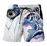 Traje De Baño Hombre Shorts Verano Moda Perros Impresión Casuales Anchos Hip Hop Street Style Playa Y Natación Pantalones Cortos Bañador
