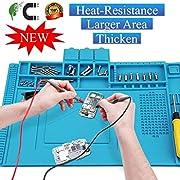 Voniry Anti-Static Soldering Mat, Cellphone Repair Mat Heat-Resistant Magnetic Multi-Purpose Work Station Pad for Soldering Brazing Phone Watch Repair 500℃(40 x 30 cm)