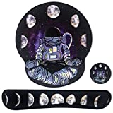 Sosolong Space Mouse pad for Game Room and Laptop, Keyboard Wrist Rest Pad and Mouse Wrist Rest Support Mouse Pad, Ergonomic Support, Memory Foam Mouse Pad (Space Meditation)