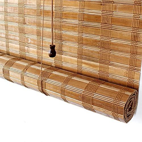 AINUO Bambú Rollo Terraza Porche Porche Pérgola Cabana Gazebo para exteriores Sombra/Jalouses al aire libre, 85 cm/105 cm/125 cm/145 cm de ancho (tamaño: 105 × 140 cm)