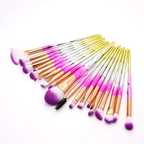 REGAL-HPQ 20pcs de Maquillage Brosses Blush Professional Brosse/Fard à paupières Brosse/Lip Brush Fibre Nylon,20pcs