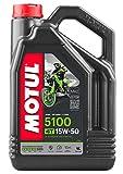 Motul 5100 4T 15W50 Synthetic Blend Oil 4...