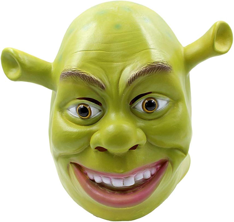 Halloween Horror Mask, Funny Shrek Head Mask,Creative Latex Vizard Mask, Costume Prop Lizard Mask