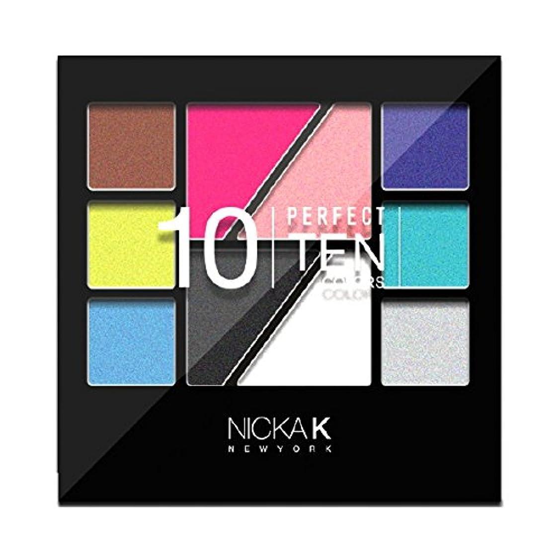 の配列ベンチありそう(6 Pack) NICKA K Eyeshadow Perfect 10 colors - AP022 (並行輸入品)