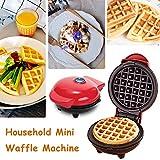 Mondayup Mini Macchina per Ferro per Waffle per Uso Domestico, Torta elettrica per Biscotti per frittelle, Rivestimento Antiaderente, Piastre per Cottura Profonda