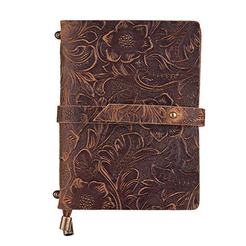 Aibecy Agenda Cuero Vintage en Relieve patrón diario de viaje cuaderno forrado...