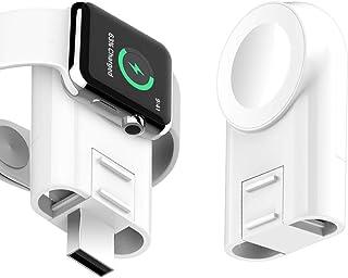Apple Watch充電器,ポータブルワイヤレス磁気USB充電器 と互換性がある Apple Watch iWatchシリーズ4/3/2/1 38mm/42mm