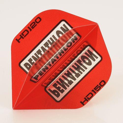 5 x Sets of Pentathlon rot Super Tough HD150 Dart Flights, Standard