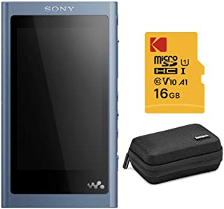 Sony NW-A55 16GB Walkman Hi-Res Digital Music Player (Moonlight Blue) with Knox Gear Hardshell Case and 16GB microSDHC Car...