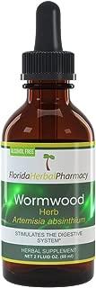 Florida Herbal Pharmacy, Alcohol - FREE Wormwood (Artemisia Absinthium) Tincture/Extract 2 oz.