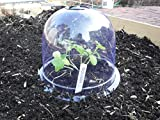 """6-Pack! GrowAway Medium Reusable Plastic Mini Greenhouse, Garden Cloche Dome, Plant Covers Frost Guard Freeze Protection for Plants Outdoors, Garden Tools, Garden Accessories - 10.24"""" Diam. x 7.48"""" H"""