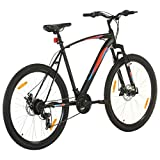 Qnotici Bicicleta de montaña 29 Pulgadas Ruedas Tren de transmisión de 21 velocidades, Altura del Cuadro 53 cm, Negro
