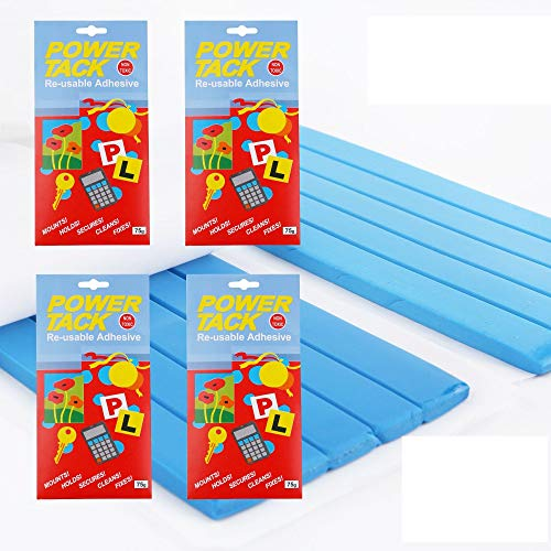 Poster Putty Blu Tack Adhesive - Tak Thumb Blue Tacky Hanging Blu-Tack Sticky Poster Wall Textured Ceiling Cement Strips Decorative Painting Concrete Adhesive Today's Deal Placement White VIZIONSTAR