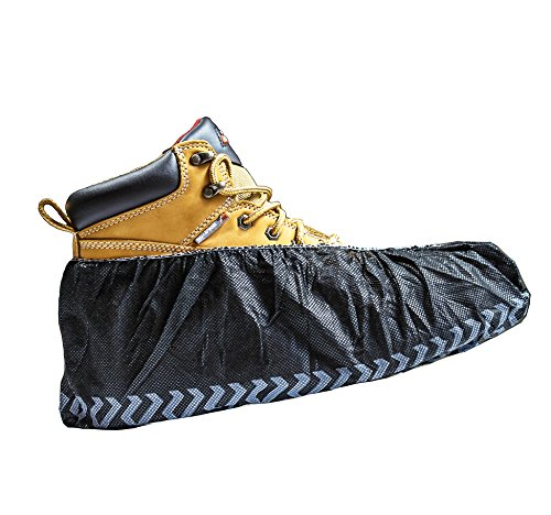 Shoecoverz Brand Black Industrial Disposable Shoe Covers for Men and Women Premium Thickness Workman...
