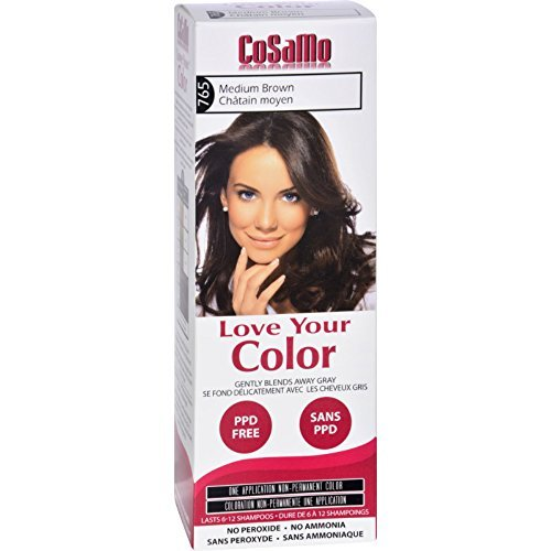 Cosamo Love Your Color  Hair Color 765 Medium Brown (Pack of 3)