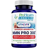 ProHealth Longevity NMN Pro 300 Enhanced Absorption - Uthever Brand - World's Most Trusted Ultra-Pure, stabilized, Pharmaceutical Grade NMN to Boost NAD+ (60 Capsules, 300 mg per 2 Capsule Serving)