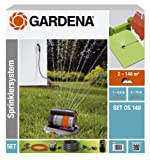 Gardena 8221-20 - Set completo de sistema de aspersor cuadrado emergente OS 140 sistema de riego para superficies cuadradas y rectangulares hasta maximo 140m², montaje a ras de suelo