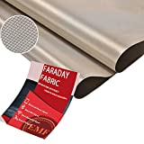 Faraday Fabric-EMI RFID Shielding-Block WiFi/RF Anti-Radiation Military Grade for Radiowave Microwave and Radiation Protection Nickel Copper Fabric, RFID Blocking Material 36'x44' inch