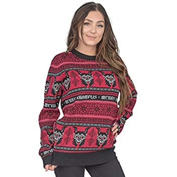 Mad Engine Merry Krampus Adult Ugly Christmas Sweater Red