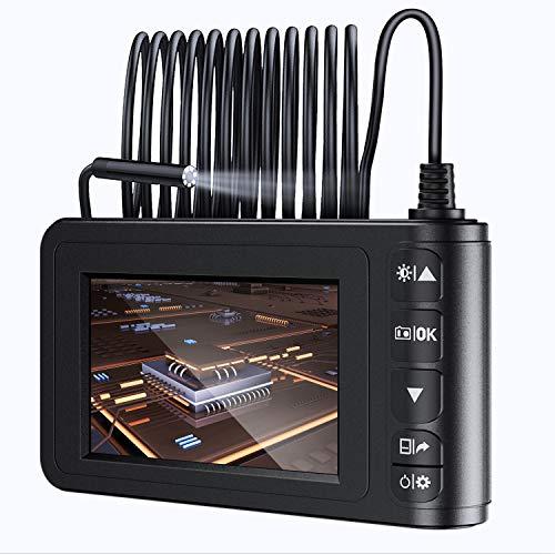 "MoKo Industrie Endoskop Boreskop, 9.8FT 1080P Full HD 4,3\"" LCD Digitale Hand Endoskopkamera Halbsteife Snake Tube Wasserdicht Inspektionskamera Videoaufnahme mit 1700mAh Batterie 1.6-198\"" Brennweite"