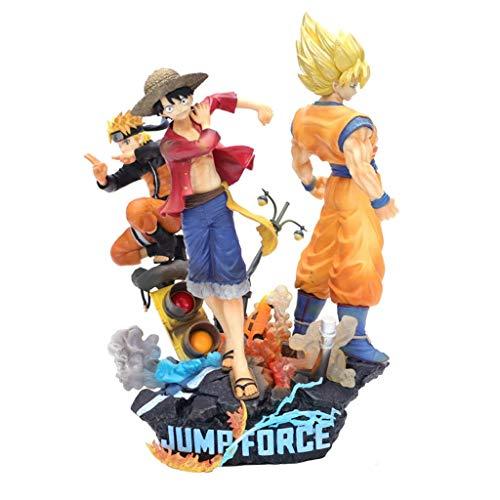 XIUYU Sun Wukong Piraten Straße Fliegen Naruto DREI Riesen-Statuen Desktop-Dekoration Action-Figuren Statuen Spielzeug-Sammlung handgemachte Dekorationen Charakter Skulptur Dekoration 20CM